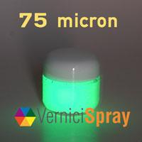 Vernice Fosforescente (fotoluminescente) da 75 micron in vasetto 50 gr